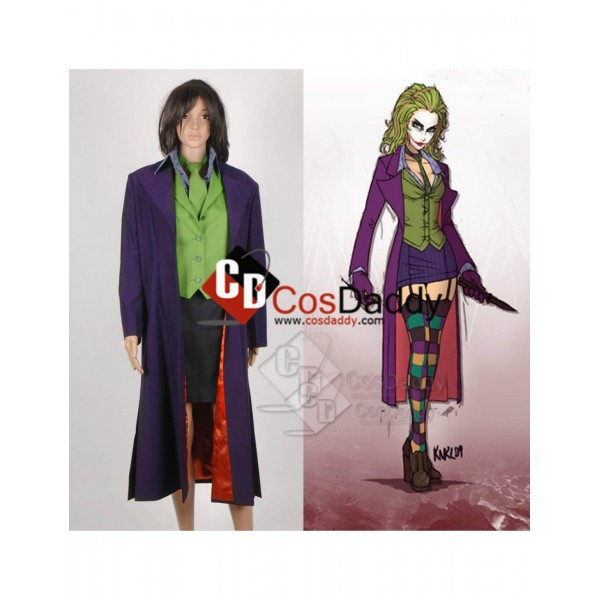 Batman : the Dark Knight  Joker  skirt Suit Cosplay Costume for Women