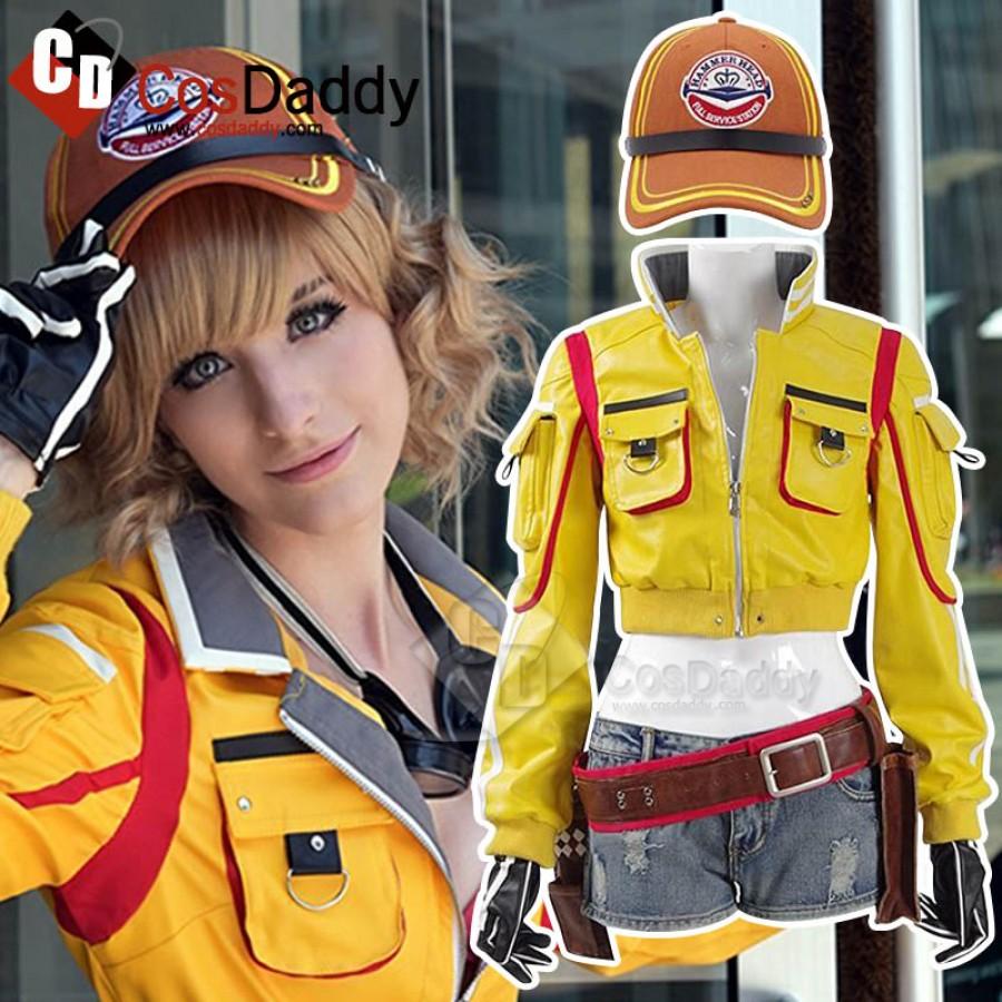 Final Fantasy XV FF15 Cindy Aurum Cap Anime Cosplay Baseball hat Costume Yellow