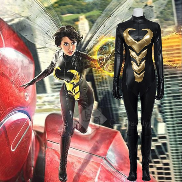Ant-Man and the Wasp Wasp Janet Van Dyne Cosplay C...