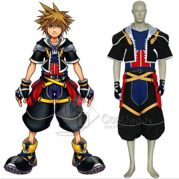Kingdom Hearts Sora Cospaly Costume