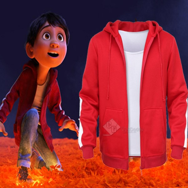 Coco (2017) Coco Miguel Red Jacket Cosplay Costume