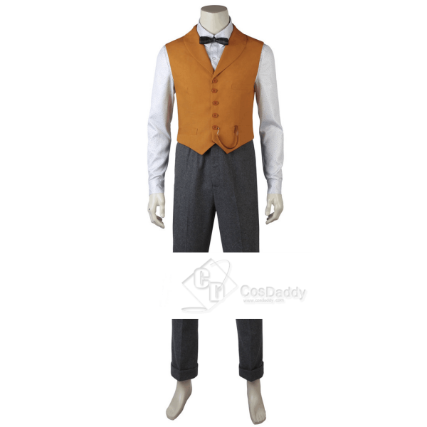 Fantastic Beasts The Crimes of Grindelwald Newt Scamander Cosplay Costume Full Set