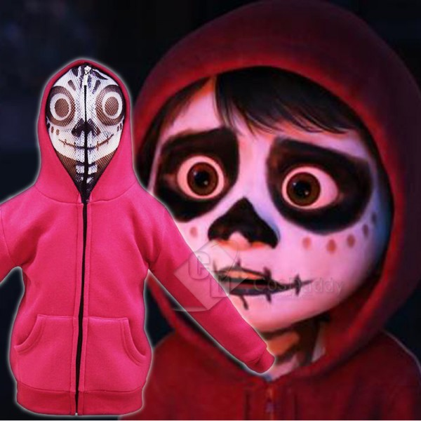 Coco (2017) Coco Miguel  Mask Jacket Cosplay Costu...