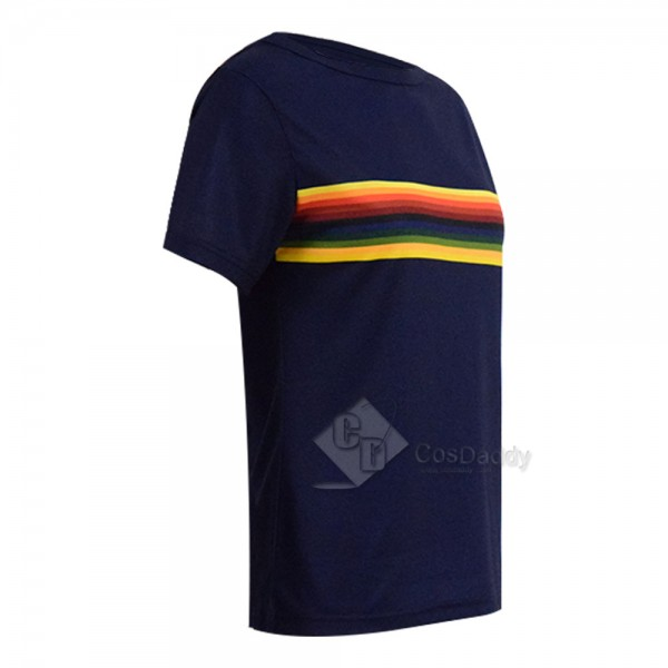 Doctor Who Thirteenth 13th Doctor Rainbow T shirt  New Colorful Costume