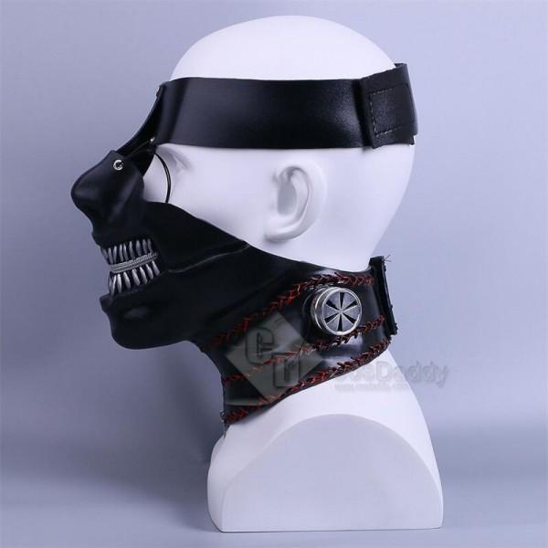 Tokyo Ghoul Ken Kaneki Adjustable Zipper Halloween Cosplay Mask