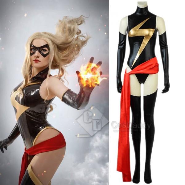 Ms. Marvel Captain Marvel Carol Danvers Cosplay Co...