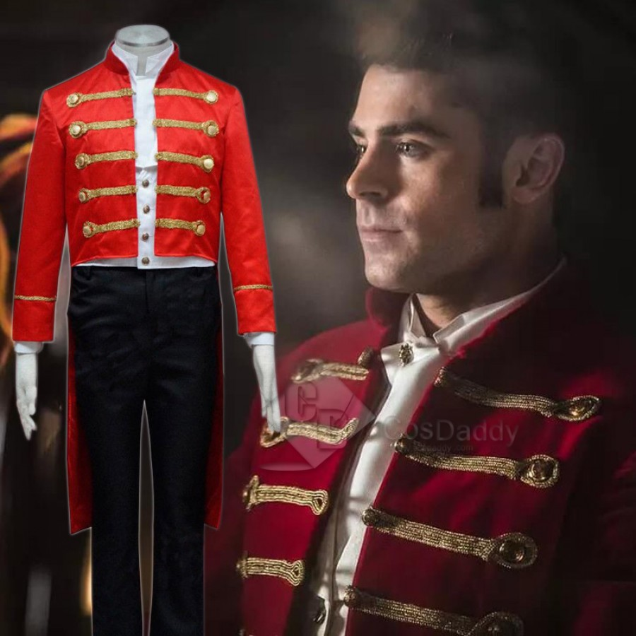 The Greatest Showman Phillip Carlyle red outfit cosplay costume cosplay suit