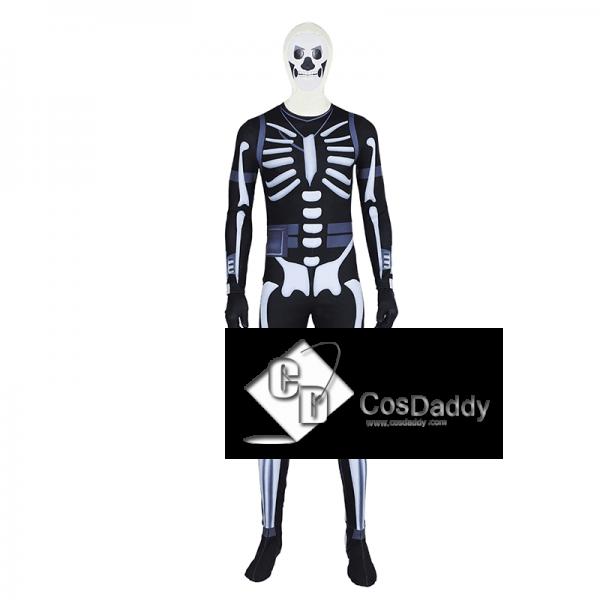 Fortnite Skull Trooper Jumpsuit Cosplay Costume