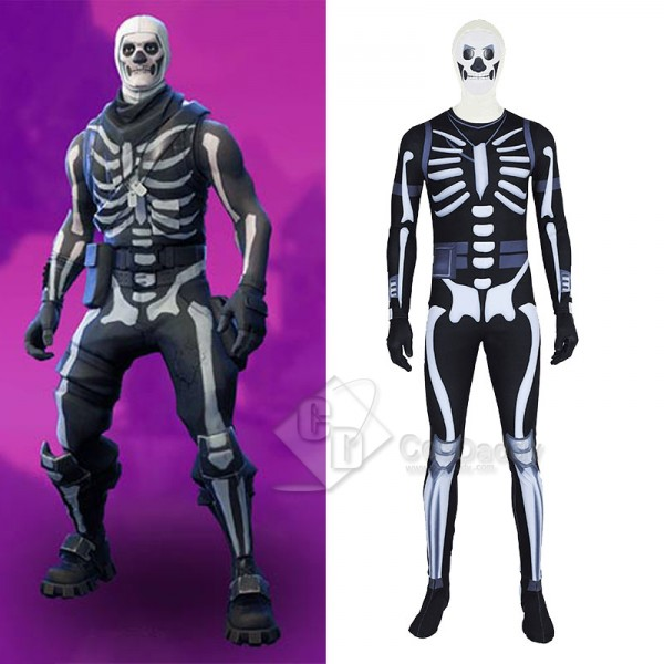 Fortnite Skull Trooper Jumpsuit Cosplay Costume