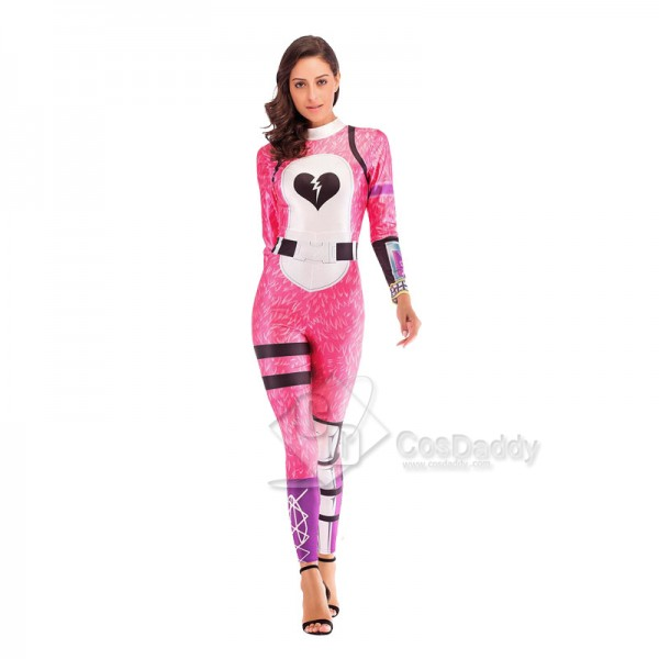 Fortnite Cuddle Team Leader Pink Bear Cosplay Costume