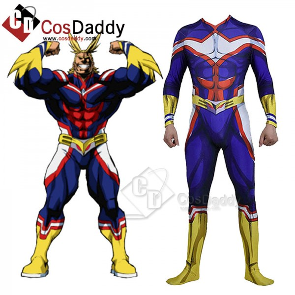 Best My Hero Academia All Might Bodysuit Suit Cosp...