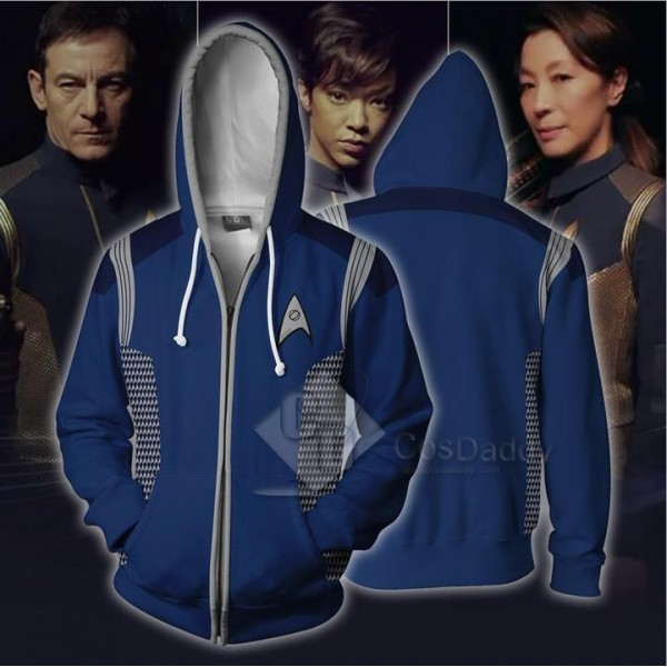 Star Trek  3D Printed Hoodie Zipper Sweatshirt