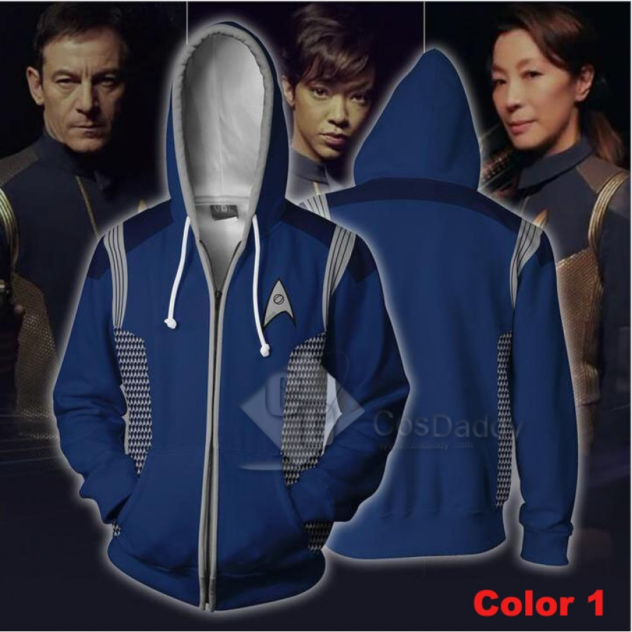 Star Trek 3D Print Zipper Jacket Hoodie Sweatshirt Cosplay Costume