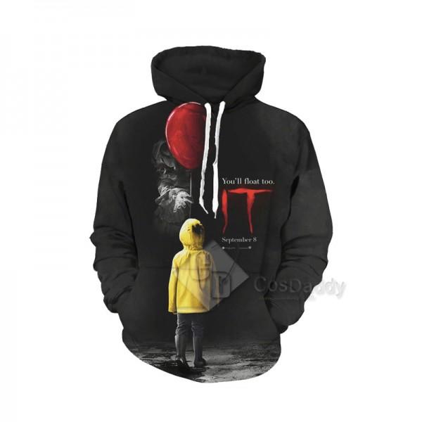 It Stephen King's It Series 3D Printed Hoodie