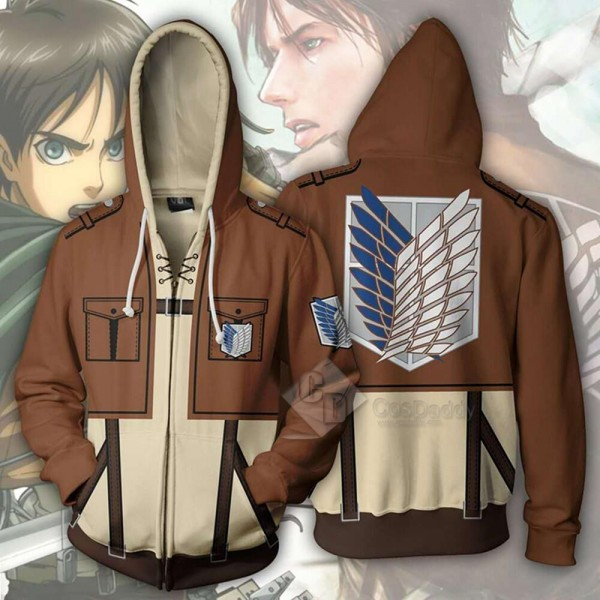 Attack On Titan 3D Printed Hoodie Sweatshirt