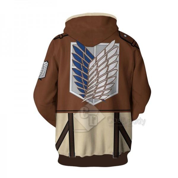 Attack On Titan 3D Printed Hoodie Sweatshirt