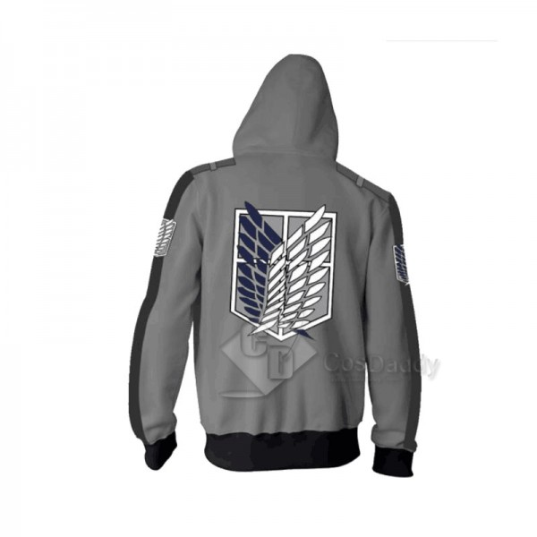 Attack On Titan 3D Printed Hoodie Zipper Sweatshirt