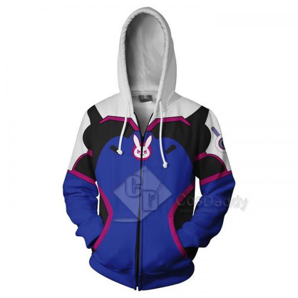 Overwatch OW DVA 3D Printed Hoodie Sweatshirt Jacket Cosplay Costume