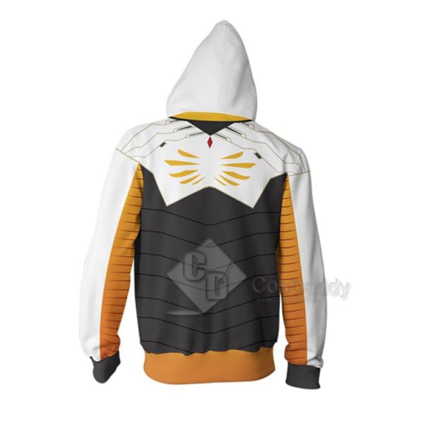 Overwatch OW Mercy Angela Ziegler  3D Printed Zipper Jacket Hoodie
