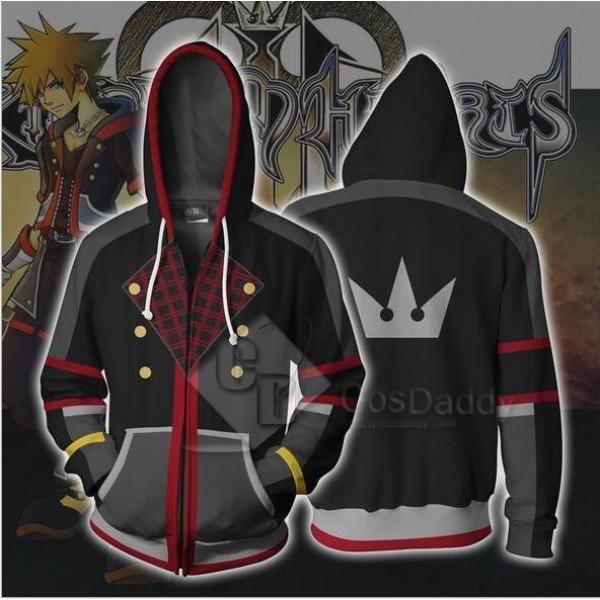 Kingdom Hearts Sora 3D Printed Hoodie Zipper Sweatshirt