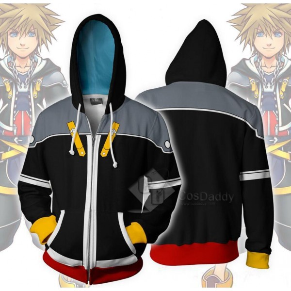 Kingdom Hearts Sora 3D Printed Hoodie Zipper Sweat...