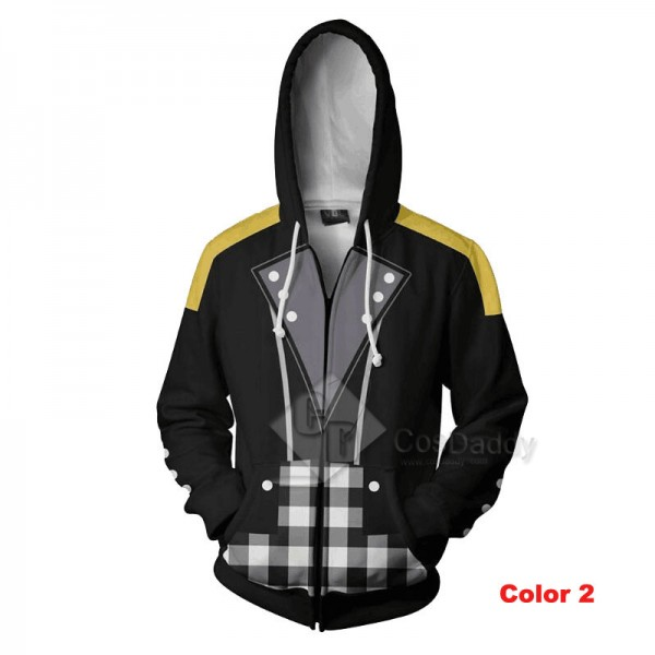 Kingdom Hearts Riku 3D Printed Hoodie Zipper Sweatshirt