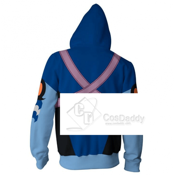 Kingdom Hearts Aqua 3D Printed Hoodie Zipper Sweatshirt