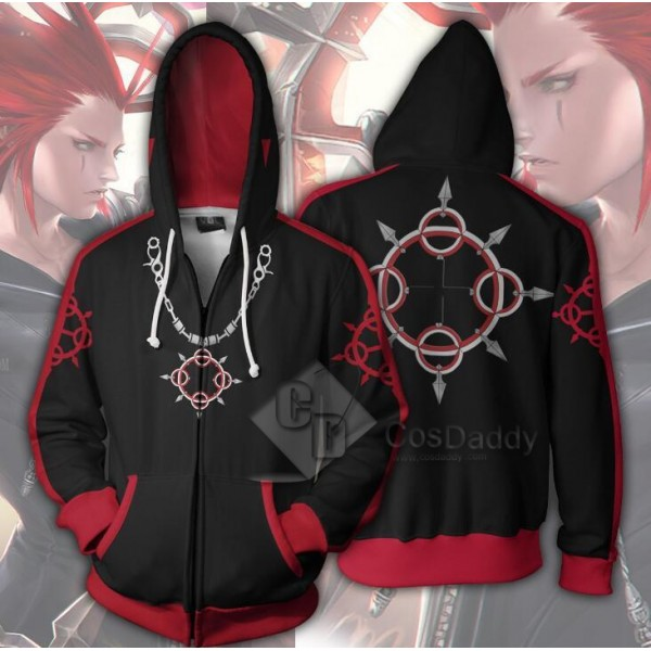 Kingdom Hearts Axel Cospaly 3D Printed Hoodie Zipp...