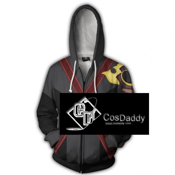 Kingdom Hearts Terra Cosplay 3D Printed Hoodie Zipper Sweatshirt