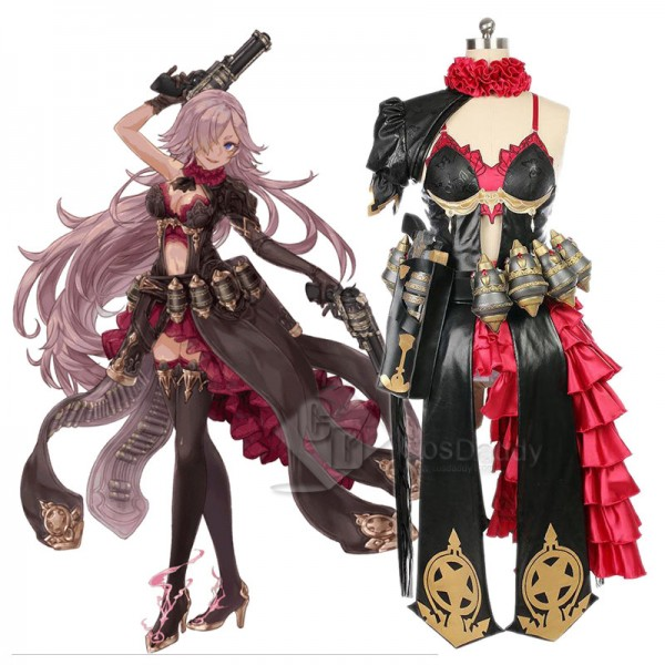 SINoALICE Cinderella Dress For Girls Cosplay Costu...