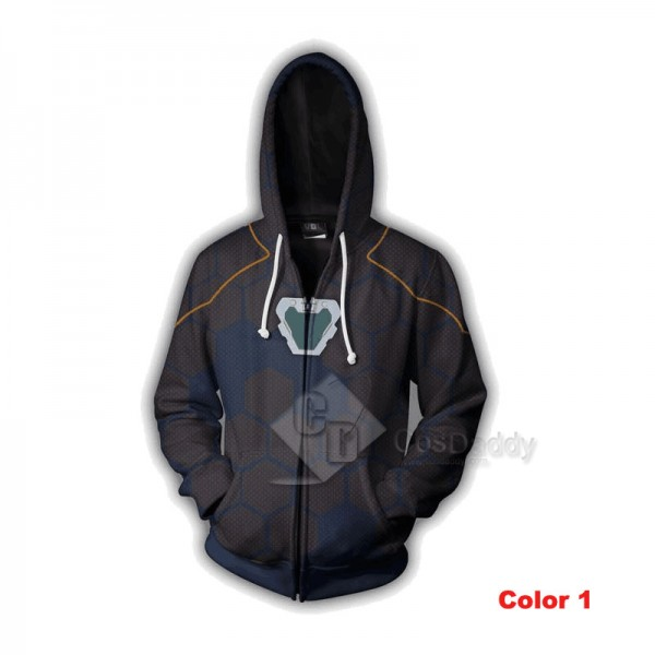 Iron Man Tony Stark Hoodie 3D Printed Zipper Sweatshirt