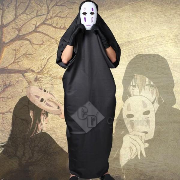 Spirited Away No Face man Cosplay Halloween Mask Costume Full Set
