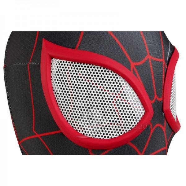 Ultimate Spider-Man Miles Morales Black Spider Man Jumpsuit Cosplay Costume