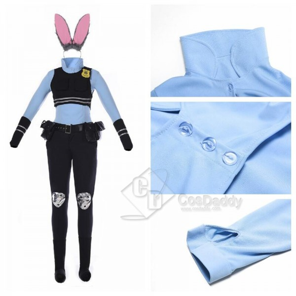 Zootopia Movie Rabbit Judy Hopps Cosplay Costume