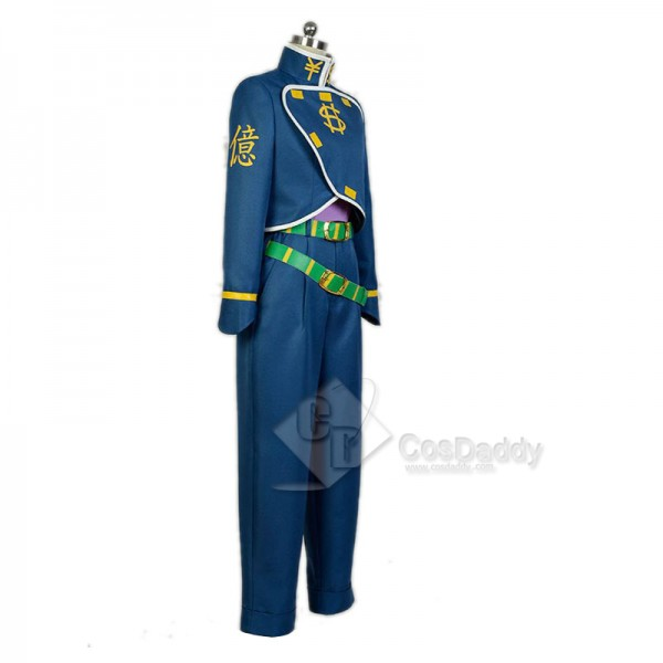 JoJo's Bizarre Adventure 4 Nijimura Okuyasu Dollar Uniform Cosplay Costume