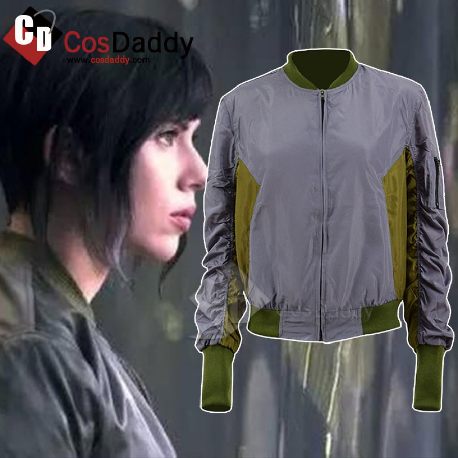 2017 Movie Ghost in the Shell Motoko Kusanagi Cosplay Costume Jacket Coat New
