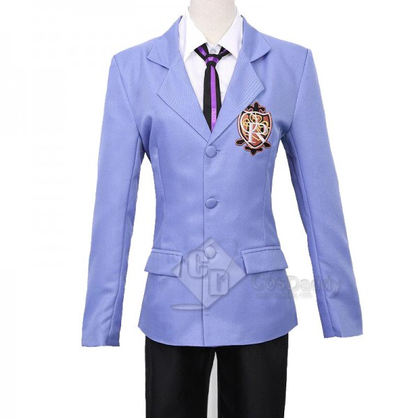 Ouran High School Host Club Suoh Tamaki Ootori Kyouya Uniform Cosplay Costume