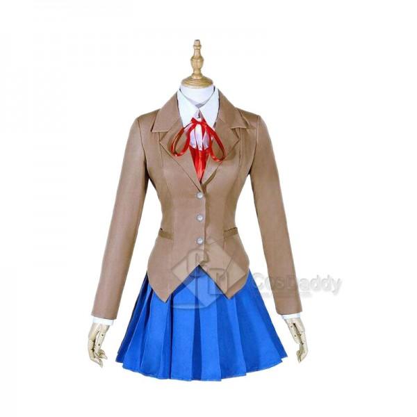 Doki Doki Literature Club Uniform Sayori Yuri Natsuki Monika Cosplay Costume
