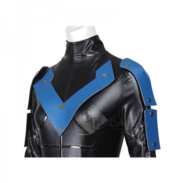 DC Superhero Nightwing Cosplay Jumpsuit Eye Mask Women's Costume