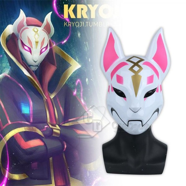 PS4 Game Fortnite Fox Drift Mask Full Face Mask