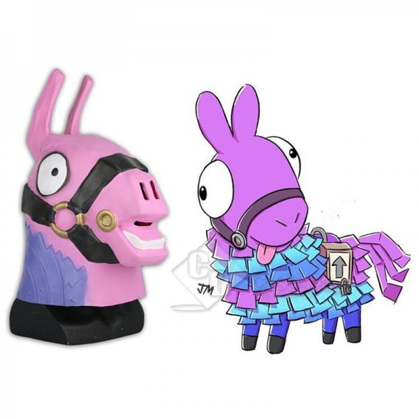 Fortnite Lama Rainbow Horse Head Mask