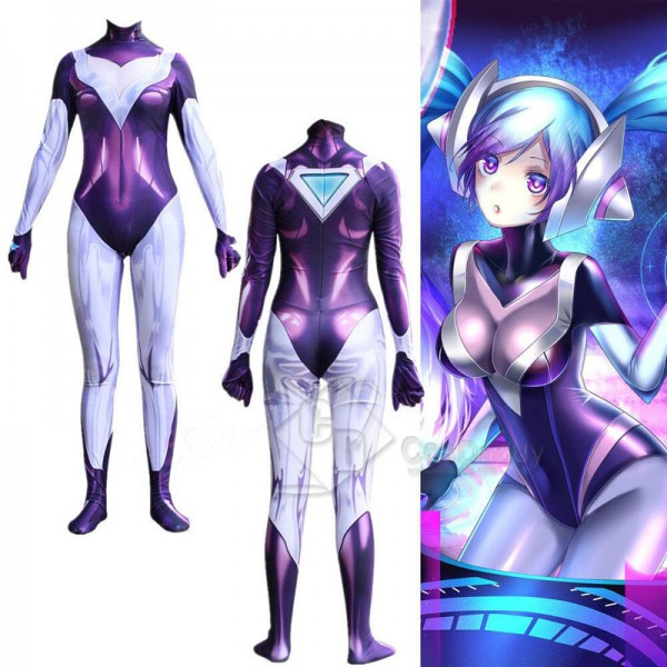 Riot Games League of Legends lol DJ Sona Ethereal Jumpsuit Cosplay Costume