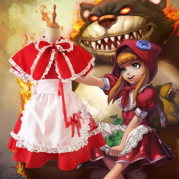 LOL League of Legends Annie Little Red Riding Hood Cosplay Costume