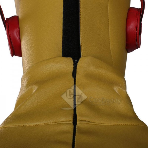 Young Justice Kid Flash Wally West Jumpsuit Mask Cosplay Costume