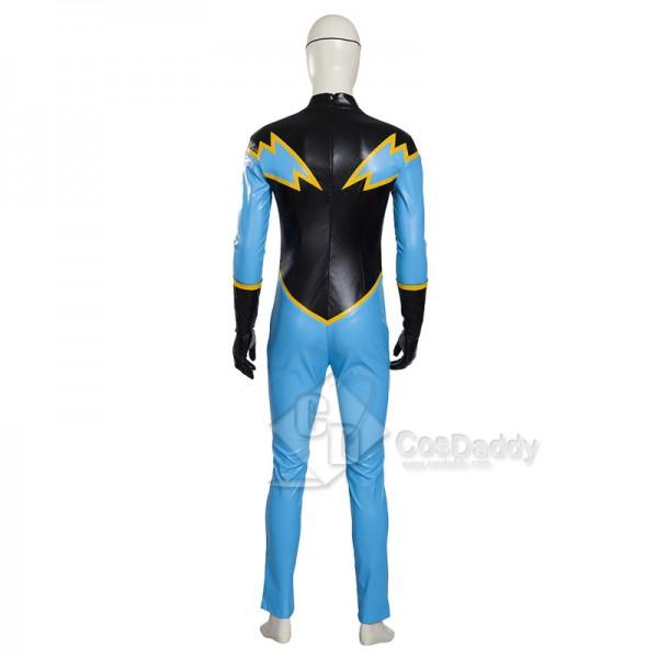 Justice League DC Comics Superhero Black Lightning  Jefferson Pierce Jumpsuit Mask Cosplay Costume