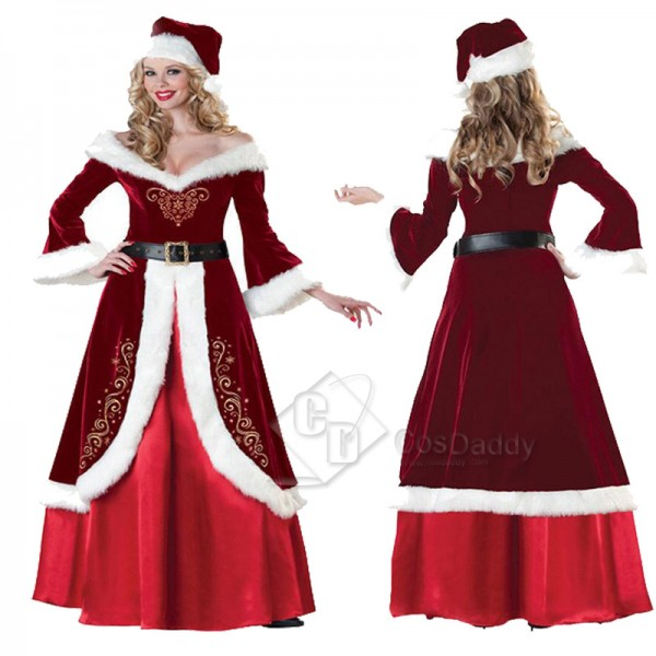 Women's Christmas Santa Claus Party Cosplay Costum...