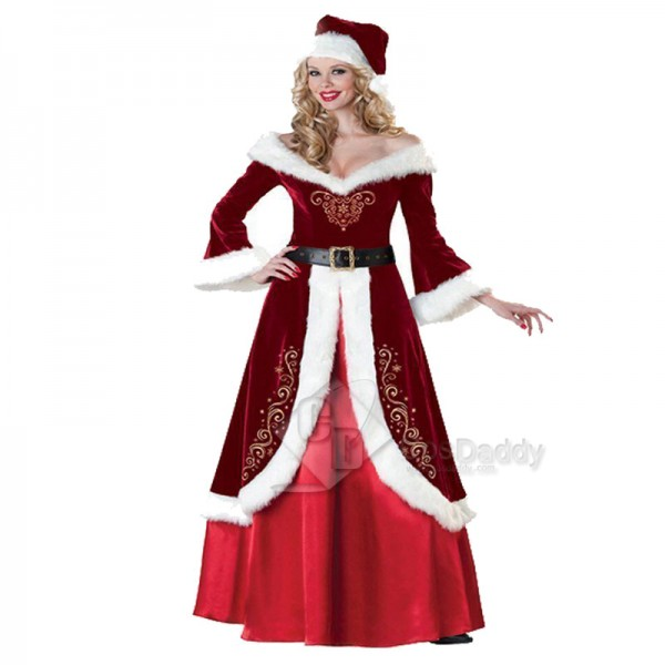 Women's Christmas Santa Claus Party Cosplay Costume