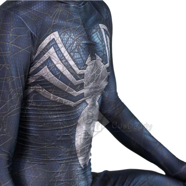 Venom Symbiote Eddie Brock Black Spider-Man Jumpsuit Cosplay Costume