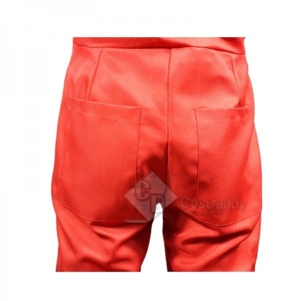 Salvador Dali La Casa De Papel Money Heist Red Jumpsuit Kids Adult Cosplay Costume