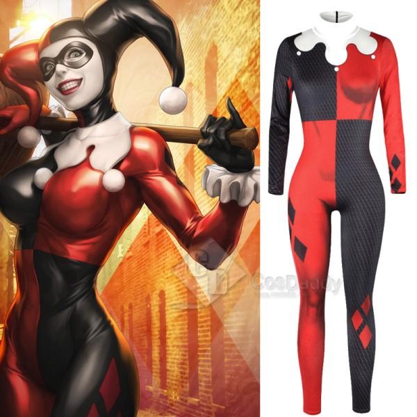 Suicide Squad Harley Quinn Jumpsuit Cosplay Costum...
